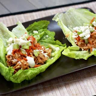 Slow Cooker Buffalo Chicken Lettuce Wraps.