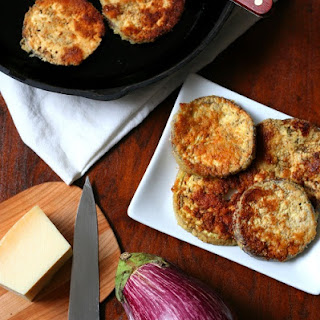 Garlic Parmesan Fried Eggplant – Low Carb and Gluten-Free.