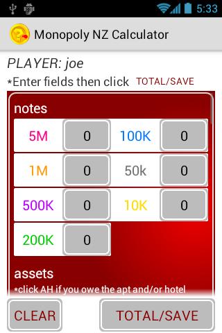 MonopolyNZ Calculator
