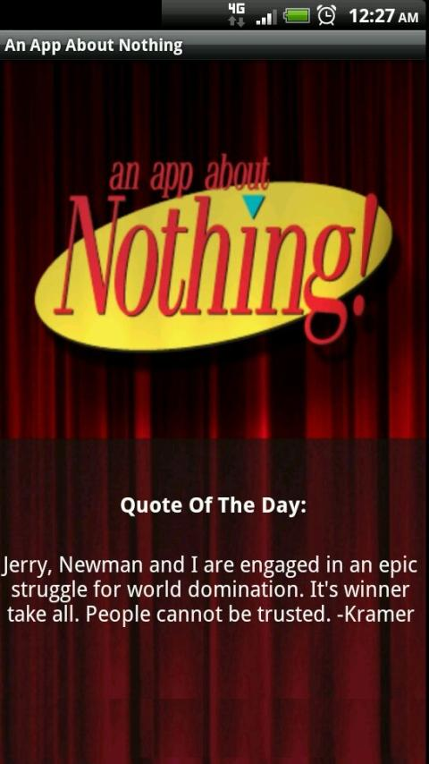 App About Nothing - screenshot