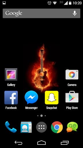Flaming Guitar Live Wallpaper