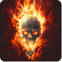 Skull In Fire LWP Animated icon