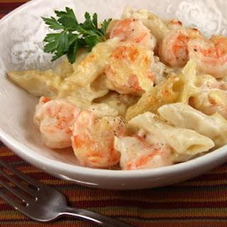 Creamy Gruyere & Shrimp Pasta.