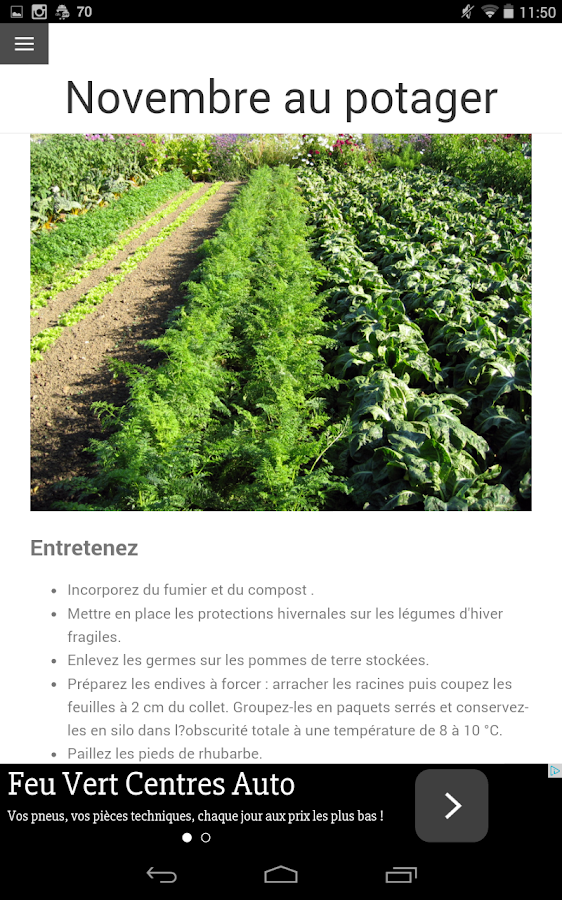 Calendrier du jardin android apps on google play for Calendrier du jardin potager