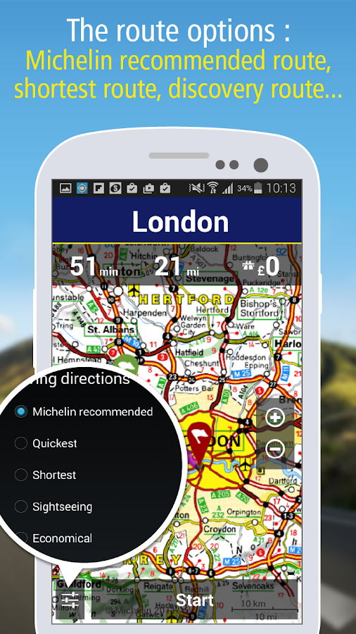 MICHELIN Navigation & Traffic - screenshot