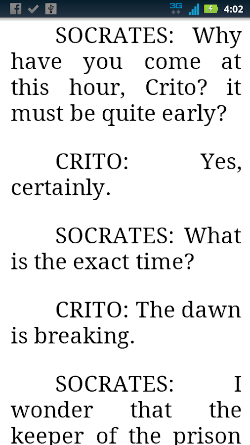 an analysis of the dialogue between plato and socrates in the crito by plato A short summary of plato's crito this free synopsis covers  the dialogue takes  place in socrates' prison cell, where he awaits execution he is visited before.