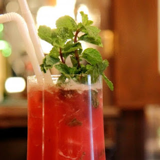 Pomegranate & Mint Margarita.