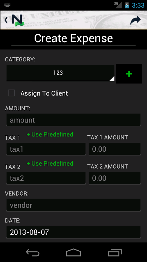 Nead Money Pro for FreshBooks- screenshot