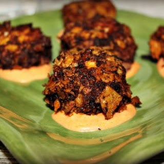 Crab Fritters with Sriracha Aioli