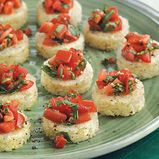 Grits Bruschetta with Tomato Salsa
