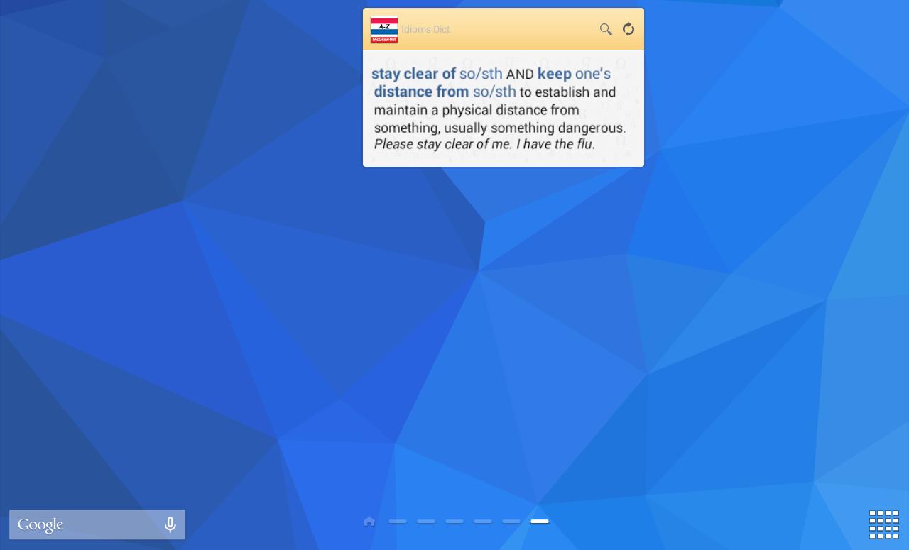 American Idioms Dictionary - screenshot