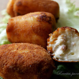 Ham Croquettes with Cashews and Emmental Cheese.