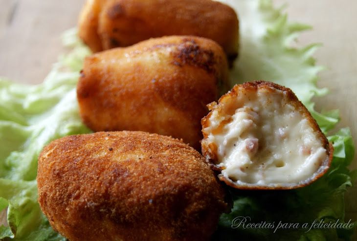 Ham Croquettes with Cashews and Emmental Cheese Recipe