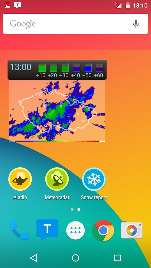Meteor (Weather) » Meteoradar- screenshot