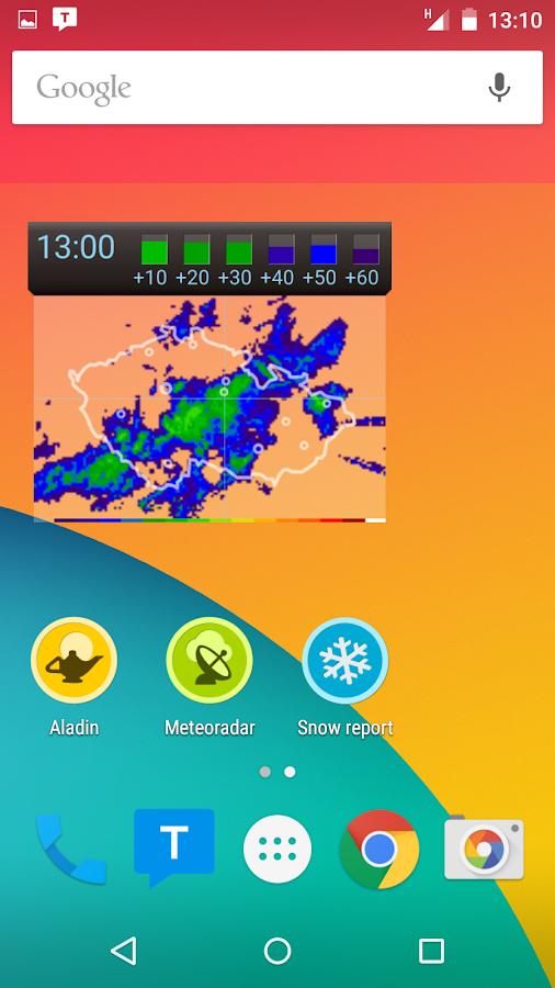 Meteor (Weather) » Meteoradar - screenshot