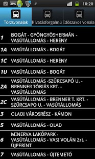 Bus schedule of Szombathely Screenshot 1