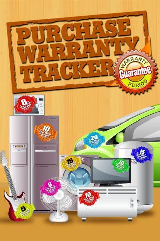 Purchase Warranty Tracker