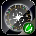 3D Compass logo