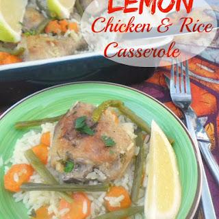 Lemon Chicken and Rice Summer Casserole.
