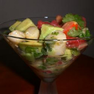 Scallop-Avocado Appetizer.