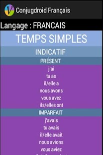 Conjugdroid Français- screenshot thumbnail