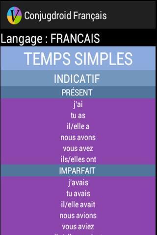 Conjugdroid Français- screenshot