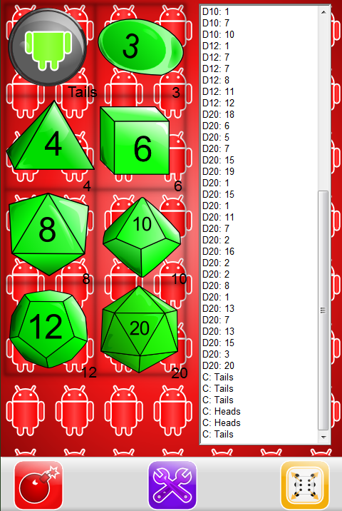 Hatcher Dice (Tabletop/RPGs)- screenshot