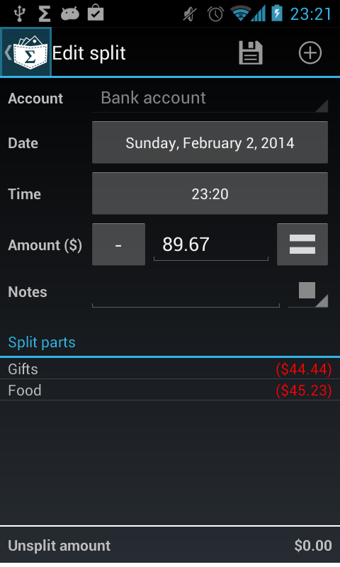My Expenses - screenshot