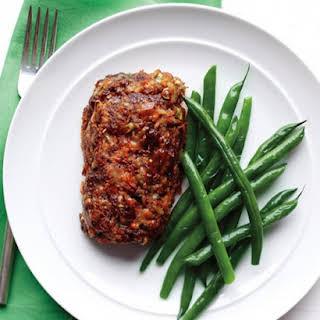Meatloaf with Green Beans.