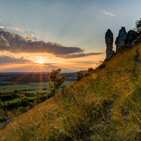 Sunset (HDR) by Alexander Kulla - Landscapes Sunsets & Sunrises ( deutschland, bavaria, hdr, sunset, walberla, germany, bayern, frankonia,  )