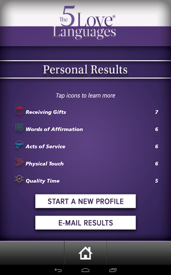 The 5 Love Languages - screenshot