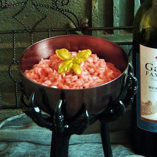 Witches Blood (Red Wine) Risotto.