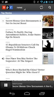 NPR News- screenshot thumbnail