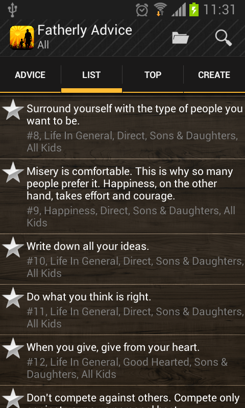 Fatherly Advice: Life Wisdom- screenshot