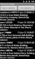 Screenshot of DiscoveryTrack Tracking App