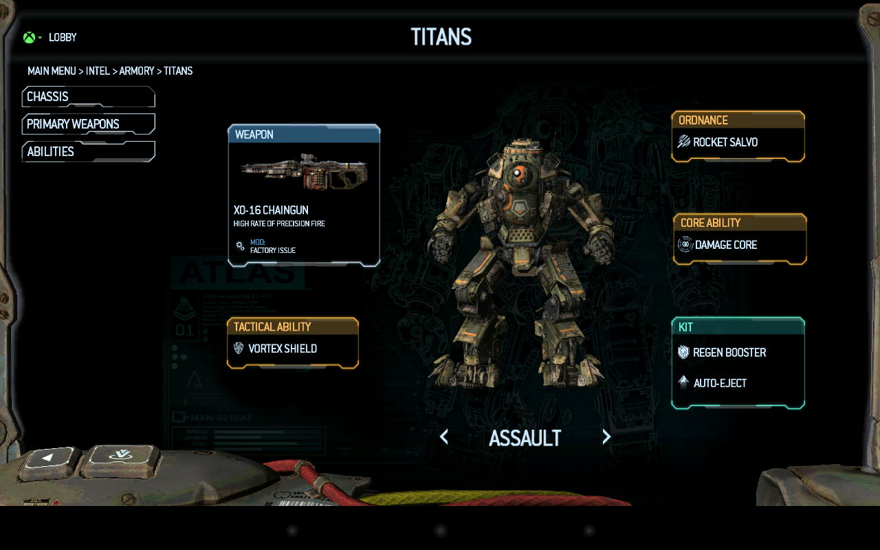 Titanfall™ Companion App - screenshot
