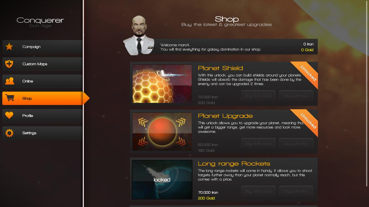 Conquerer Sun Age Free- screenshot