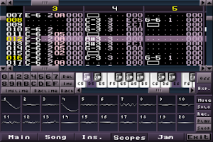 Screenshot of MilkyTracker