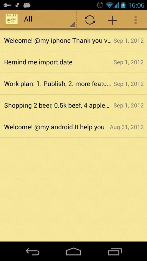 iNotes - Sync Note with iOS - screenshot