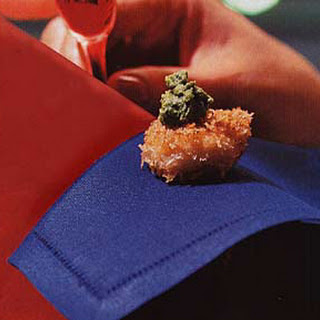 Panko Scallops with Green Chile Chutney