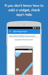 SWP: Seo widget pack- screenshot thumbnail