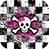 Girly Skull Live Wallpaper HD