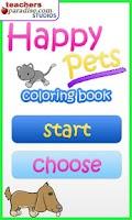 Screenshot of Happy Pets Coloring Book