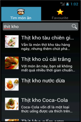 mon an - nau an, cách nấu ăn- screenshot