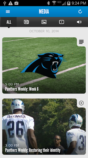 Carolina Panthers Mobile Screenshot