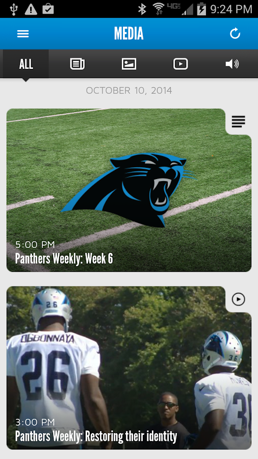 Carolina Panthers Mobile- screenshot