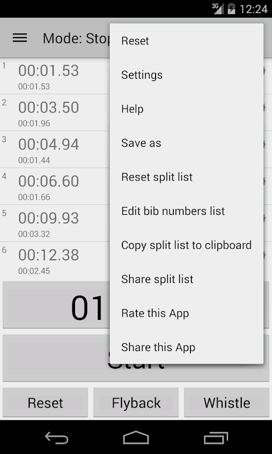 Chronometer All in 1 - screenshot