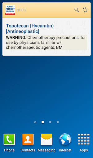 Nurse's Pocket Drug Guide 2011 app for Android screenshot