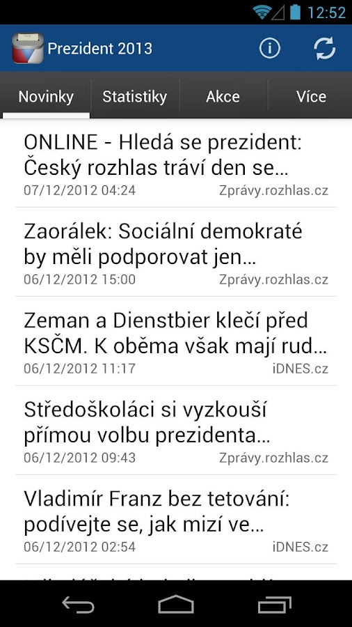 Prezident 2013 - screenshot