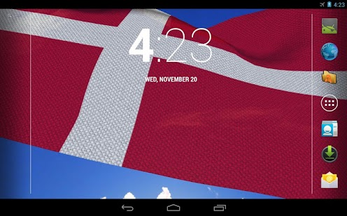 3D Denmark Flag Live Wallpaper- screenshot thumbnail